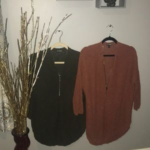 Half-Zip Express brand sweaters